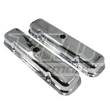 '59-'81 Pontiac V8 Short Chrome Steel Valve Covers - 301 350 389 400 421 428 455