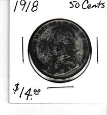 Canada 1918 50 cents silver half dollar