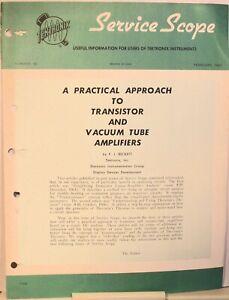 TEKTRONIX- Service Scope Magazine Feb1967  8 pages - Tube & Transistor Amps