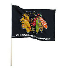 NHL Hockey Chicago Blackhawks Flag - Hockey Team Flag - 17.5 x 12 - Black