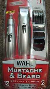 Wahl Mustache & Beard Battery Trimmer Combo Kit 05606-420