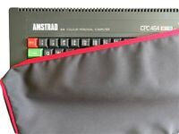 AMSTRAD CPC 464 - COTTON CANVAS - GRAPHITE GREY - DUST COVER - STYLISH - VINTAGE