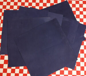 """AUTHENTIC HORWEEN 4 oz ROYAL BLUE DRYDEN LEATHER HIDE 12"""" x 12"""" NAT. QLTY."""