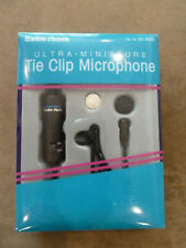 Radio Shack Ultra Miniature Tie Clip Microphone Black  Model #33-3003 NEW