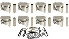 (8) SEALED POWER FORD MERCURY 351M MODIFIED V8 DISH PISTONS 1975-82 w/rings