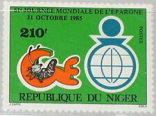 NIGER 1985 969 724 61st World Savings Day Weltspartag Embleme Economy MNH