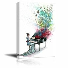 "Canvas Prints Wall Art - Grand Piano Music (Series C) - 24"" x 36"""