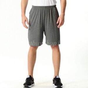 Men Pajama Shorts Sleepwear PJs Plus Boxer Shorts Stretch Lounge Bottoms 2XL-7XL