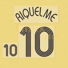 Name + Number Set Printing Juan Riquelme 10 2006 World Cup Argentina Black home