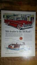1953 Ford Crestline Ad - '53's Leader Is The '53 Ford!