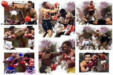 MUHAMMAD ALI AND OTHER  BOXING LEGENDS CANVAS PRINTS set A4 X 9 PRINTS