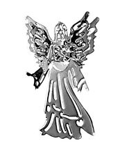 Silver Colour Guardian Angel Brooch / Pin With Gem Embellishment Gift For Women