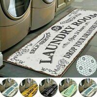 Letter Printed Entrance Doormat Non Slip Kitchen Bathroom Rug Laundry Floor Mat