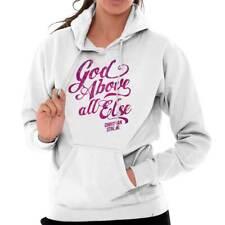 God Above All Else Christian Jesus Christ Religious Gift Hoodie For Ladies