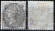 Indien 13 *, 4 A.schwarz, Viktoria, ungebraucht seltene Marke, sign. Schlesinger