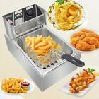 2500W 6L Electric Deep Fryer Commercial Countertop Basket French Fry Restaurant photo