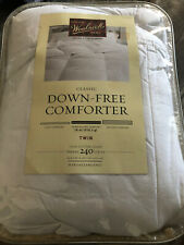 New Woolrich Down Free Comforter Twin Size Cotton Cover Hypoallergenic