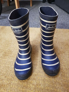Joules Boys Wellingtons/Wellies Blue striped Size 13