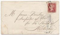 1857 MONKTON FRAMED SCOTS LOCAL CANCELLATION 1d STAR COVER AYRSHIRE >KILBIRNIE