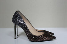 sz 8.5 / 38.5 Jimmy Choo Romy Glitter Shimmer Pointed Toe Pump Shoes