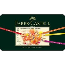 FABER CASTELL POLYCHROMOS ARTISTS QUALITY COLOUR PENCILS SET - 120 TIN - BNIB