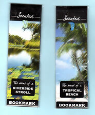 2x River Walk Sea Smell Scented Book marks Pond Tropical Beach Palm Tree Gifts