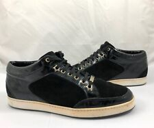 Jimmy Choo Women Size 8 38 Miami Patent Suede Leather Sneakers Shoes Black $550