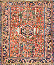 "4'10"" x 6'1"" Magnificent Antique Karaja Heriz Rug, Tribal,#17035"