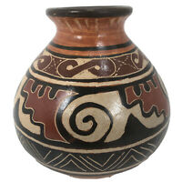 """Hand Crafted Guaitil Costa Rica Pottery  5"""" Tall x 5"""" Wide (Approx)"""
