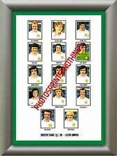 LEEDS UNITED - 1975-76 - REPRO STICKERS A3 POSTER PRINT