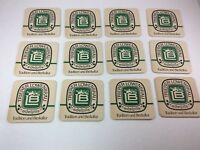 Trierer Lowenbrau Edelpils VINTAGE Beer Coasters Tradition and Bierkultur German
