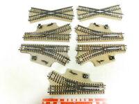 BX573-1# 7x Märklin H0/AC Handweiche/Kreuzung M-Gleis für 3600/800, geprüft