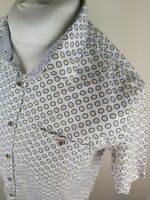 Mens Ted Baker Floral Mungo Short Sleeve Shirt White Large 4 42 Chest