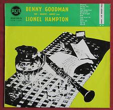 BENNY GOODMAN LP ORIG FR  TRIO QUARTET QUINTET AVEC LIONEL HAMPTON