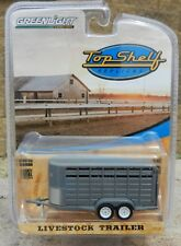 1:64 GreenLight *TOP SHELF REPLICAS* Grey LIVESTOCK Farm TRAILER *NIP*