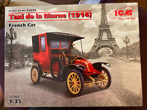ICM 35659 1/35 scale TAXI DE LA MARNE 1914 FRENCH CAR WWI Scale plastic model