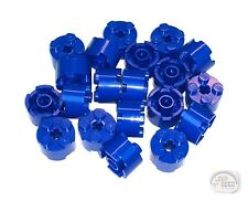 LEGO - 3-Buck Bag - 20 x Round Brick w/ Axle Hole - 2x2 - Blue - New