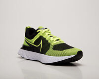 Nike React Infinity Run Flyknit 2 Men's Volt Black Running Jogging Sneakers Shoe