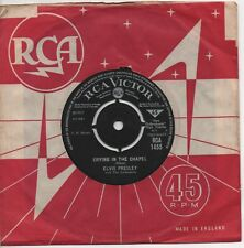 ELVIS PRESLEY crying in the chapel*i believe in the man in the sky RCA VICTOR 45