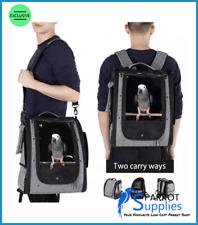 Parrot-Supplies Shelly Parrot Backpack Carrier Bird Travel Bag