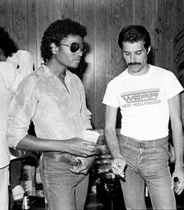 "Freddie Mercury & Michael Jackson Poster Music Singer Art Silk Print 24x27"""