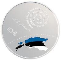 Estland Silbermünze 10 euro 2018, centenary of the Republic of Estonia, silver
