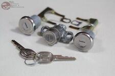 70-73 Chevy Camaro Door Trunk Lock Kit Short Cylinders Round Oval Head Keys New