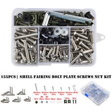 155Pcs Motorcycle Shell Fairing Bolt Plate Screws Nut Stainless Steel Thread Kit