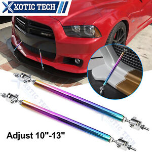 2Pcs Sporty 10''-13'' Neo Alloy Bumper Diffuser Stabilizer For Dodge Challenger