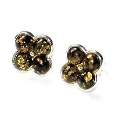 Orecchini argento massiccio 925 ambra gioiello orecchino