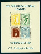 PERU 1956 AIRMAIL - OLYMPIC GAMES - Australia, Melbourne - BLOCK S/S mint MNH