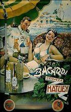Bacardi Rum/Hatuey Beer sunshade steel sign 300mm x 200mm (hi)
