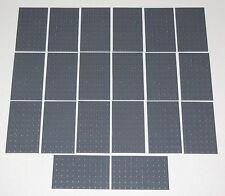 Lego Lot of 20 New Dark Bluish Grey 6 x 10 Dot Plates Pieces