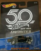 Hot Wheels 50th Anniversary '55 Chevy Bel Air Gasser-BLACK -VHTF - in protector!